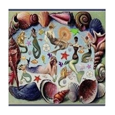 Mermaids Tile Coaster