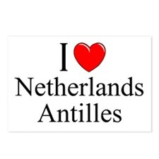 """""""I Love Netherlands Antilles"""" Postcards (Package o"""