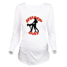 AC75 CP-24 WHITE CIR Long Sleeve Maternity T-Shirt