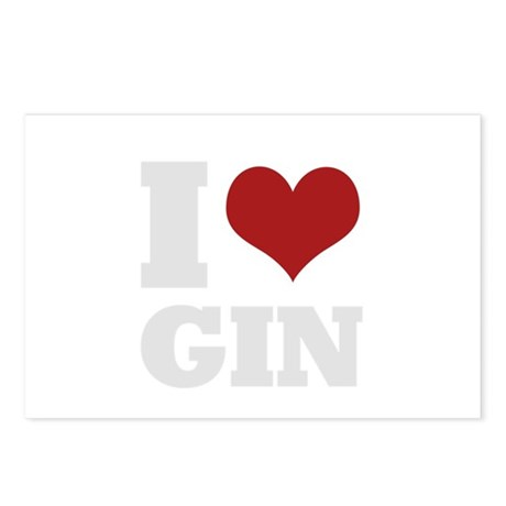 I love gin Postcards (Package of 8)