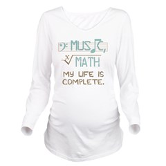Math and Music Long Sleeve Maternity T-Shirt