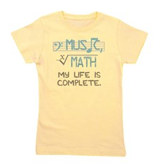 Math and Music Girl's Tee
