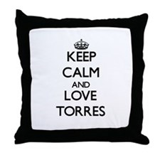 Keep calm and love Torres Throw Pillow