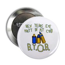 "New Year's Party in My Crib 2.25"" Button"