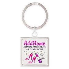 BEST ADMIN ASST Square Keychain