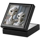 Alien Couple - Tile Gift Box