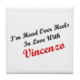 In Love with Vincenzo Tile Coaster