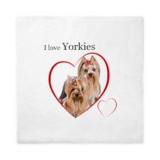 Yorkie Love Queen Duvet