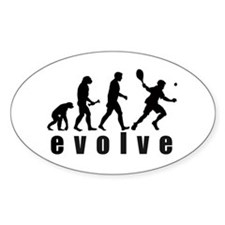 Evolve Tennis Oval Stickers