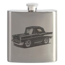 BabyAmericanMuscleCar_57BelR_Black Flask