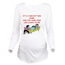 air hockey Long Sleeve Maternity T-Shirt
