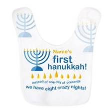 First Hanukkah Bib