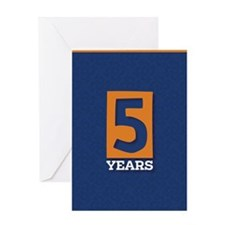 Anniversary Card: 5 Years Greeting Cards