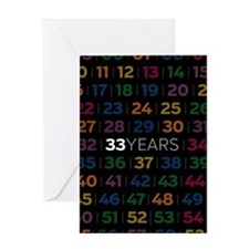Anniversary Card: 33 Years Greeting Cards