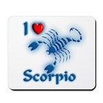 I Love Scorpio Mousepad