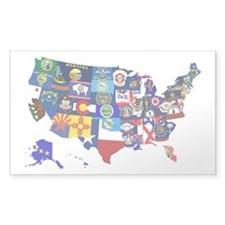 USA State Flags Map Decal