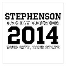 Custom Family Reunion Bold Varsity Text Invitation