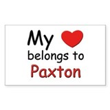 My heart belongs to paxton Rectangle Decal