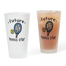 Tennis Star Drinking Glass