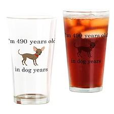 70 birthday dog years chihuahua Drinking Glass