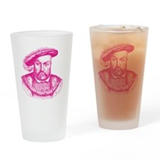Pink Henry the Eighth VIII Drinking Glass