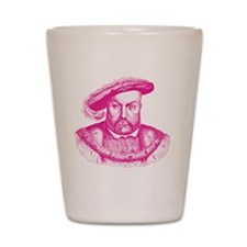 Pink Henry the Eighth VIII Shot Glass