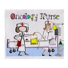 Oncology Nurse Throw Blanket
