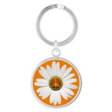 Peace Sign Daisy Keychains
