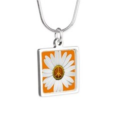 Peace Sign Daisy Necklace