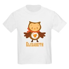 Personalized Autumn Owl T-Shirt