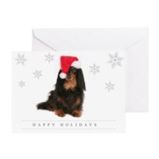 Cute Dachshund santa Greeting Card