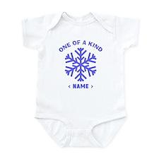 Personalize Christmas Snowflake Infant Bodysuit