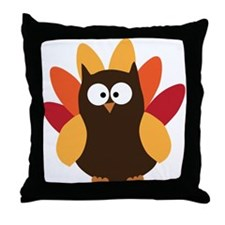 Thanksgiving Owl Throw Pillow