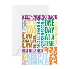 A.A. Slogans Greeting Cards