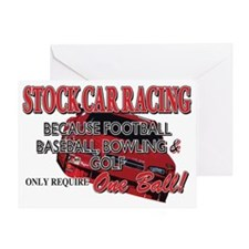 One-Ball-Stock-Car Greeting Card