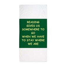 reading Beach Towel