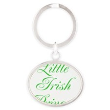 Little Irish Princess Oval Keychain