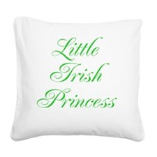 Little Irish Princess Square Canvas Pillow
