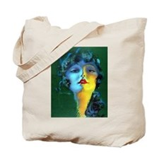 Flapper Art Deco Woman on Green Roaring 20s Tote B