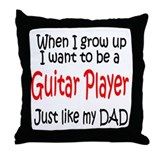 Guitar - like dad Throw Pillow