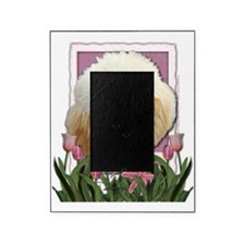 Pink_Tulips_Poodle_Apricot Picture Frame