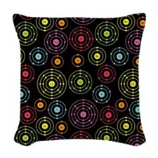 Periodic Shells (Dark) Woven Throw Pillow