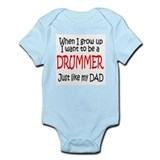 Drummer - like dad Infant Bodysuit
