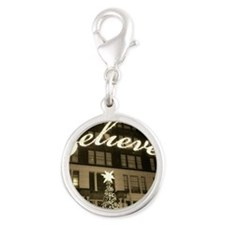 macy's new york city christmas Silver Round Charm