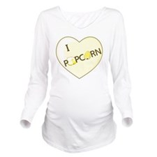 popcorn-love Long Sleeve Maternity T-Shirt