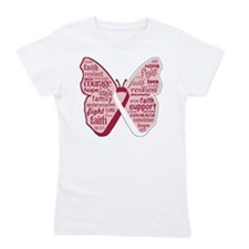 Butterfly Head Neck Cancer Girl's Tee