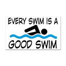 swimming Rectangle Car Magnet