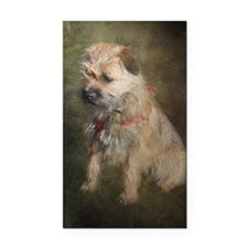Border Terrier Rectangle Car Magnet