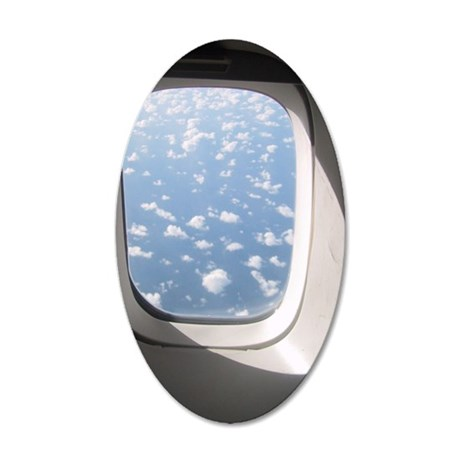 porthole 35x21 Oval Wall Decal