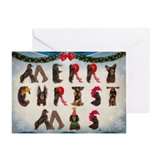 Cute Dachshund christmas Greeting Card